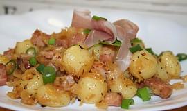 Gnocchi po česku - se zelím a slaninou