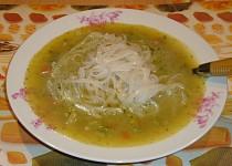 Brokolicová polévka s rýžovými nudlemi