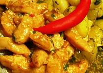 Kuřecí kousky s chilli a sezamem