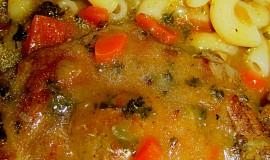 Vepřová krkovice na zelenině