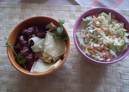 Výborně se hodí se zeleninovým salátem