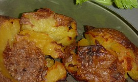 Pečené vařené brambory