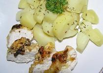 Zapečená kuřecí prsa s mandlemi a sýrem