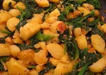 Špenát a brambory netradičně