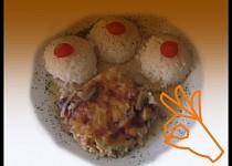 Vepřové plátky ve šťávě z masoxu, zapékané se sýrem