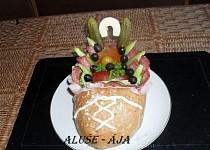 Slaný dort - bota