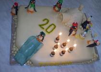 U tučňáků na návštěvě :-) - dortík