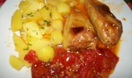 Pečené papriky s rajčaty
