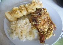 Pečené  kuře s hořčicí a smetanou