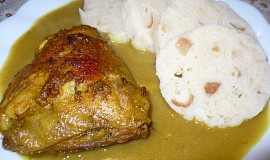 Pečená kuřecí stehna na kari
