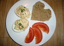 Vajíčková pomazánka / jednohubka