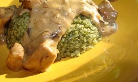 Špenátová rýže s kuřecím masem