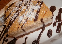 Tříbarevný kokosový koláč zdravější