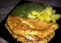 Kuřecí maso v omeletě se špenátem