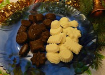 Čokoláda kakaová, kokosová bílá
