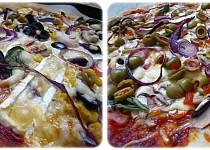 Žampionová a hermelínová pizza