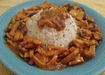 Kuřecí směs s fazolí a kukuřicí
