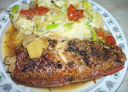 Moc dobrá pečená ryba