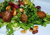 Lehký salát s pečeným masem