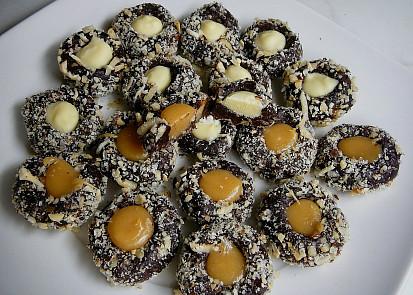 Čokoládové kuličky s náplní