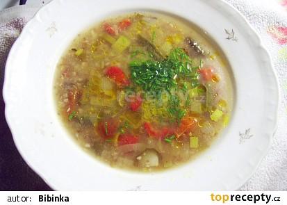 Papriková polévka s pohankouv kachním vývaru