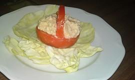 Košíček z rajčete s krémem z nivy