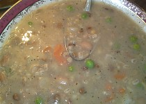 Slovenská hrstková polévka
