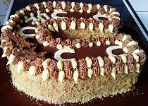 Čoko-vanilkový dort podkova