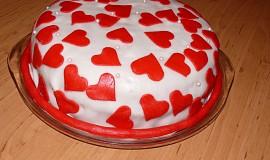 Srdíčkový dort k výročí