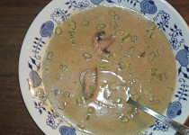 Krémová houbová polévka (maďarská)