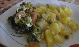 Zapékané kuřecí maso s brokolicí