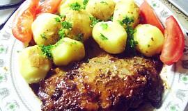 Vepřové steakové plátky v troubě