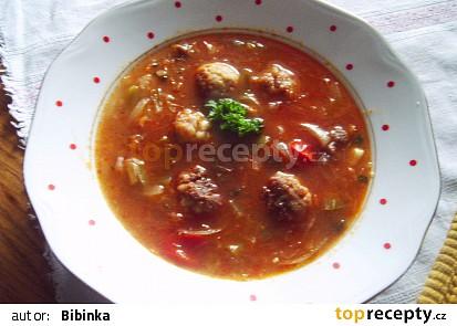 Gurmánská vydatná polévka s opečenými masovými knedlíčkami