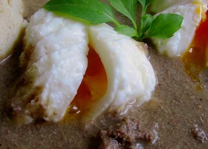 Játrová omáčka s vejcem