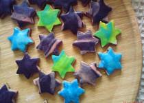 Kávové hvězdičky s marcipánem