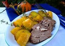 Pečená dýně s bramborami na tymiánu