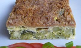 Zapečená brokolice s uzeným sýrem