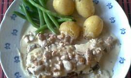 Steak s liškovo - smetanovou omáčkou