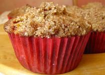 Posypané švestkové muffiny