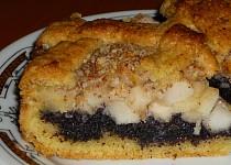 Křehký makový koláč s jablky