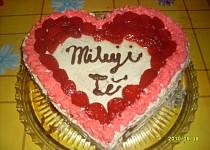 Jahodový dort z lásky