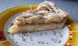 Pudinkovo-jablečný koláč
