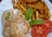 Přírodní kuřecí s italskými hranolkami