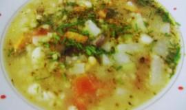 Houbová polévka s kroupama