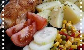 Smažené kuřecí špízy se sýrem