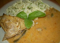 Kuře s hlívovou omáčkou a fazolkou