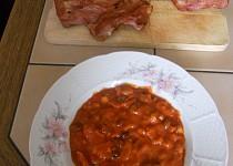 Mexická příloha s fazolemi, kukuřicí a slaninou