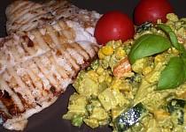 Pangas s dušenou kari zeleninou