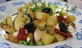 Řecké opečené brambory