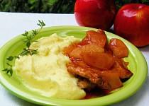 Krkovička v tomatovo-jablečné omáčce s tymiánem
